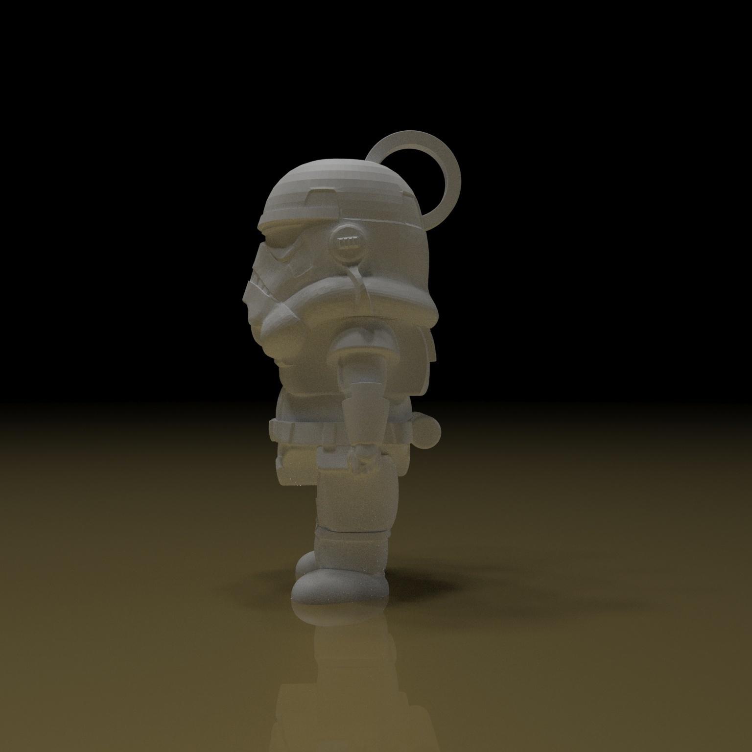 4.jpg Download free STL file STORMTROOPER KEY CHAIN • 3D printing template, paltony22