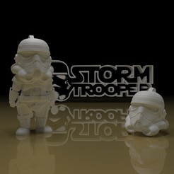 Download free STL file STORMTROOPER KEY CHAIN • 3D printing template, paltony22