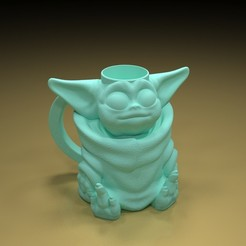 2.jpg Download free STL file YODA JUICE / MILK / BEER CUP • Template to 3D print, paltony22