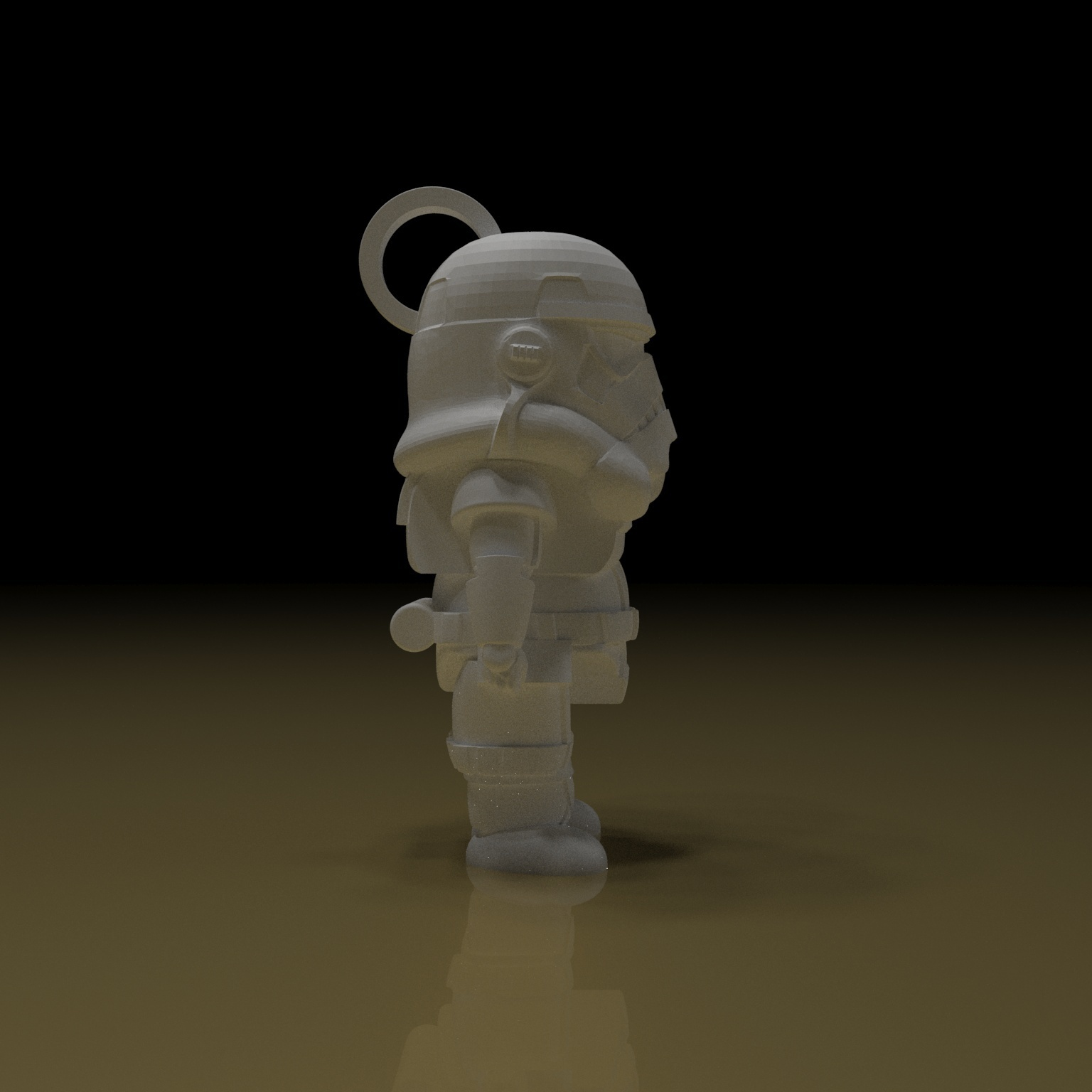 3.jpg Download free STL file STORMTROOPER KEY CHAIN • 3D printing template, paltony22