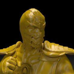 Download free STL file Scorpion Mortal Kombat 3D Printing • Model to 3D print, paltony22
