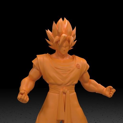 6.jpg Download free STL file Goku (Super Saiyan) • 3D printer template, paltony22
