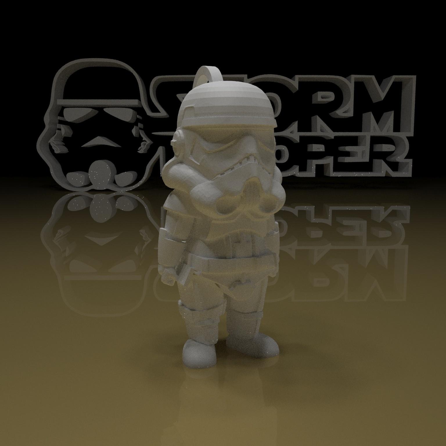 10.jpg Download free STL file STORMTROOPER KEY CHAIN • 3D printing template, paltony22