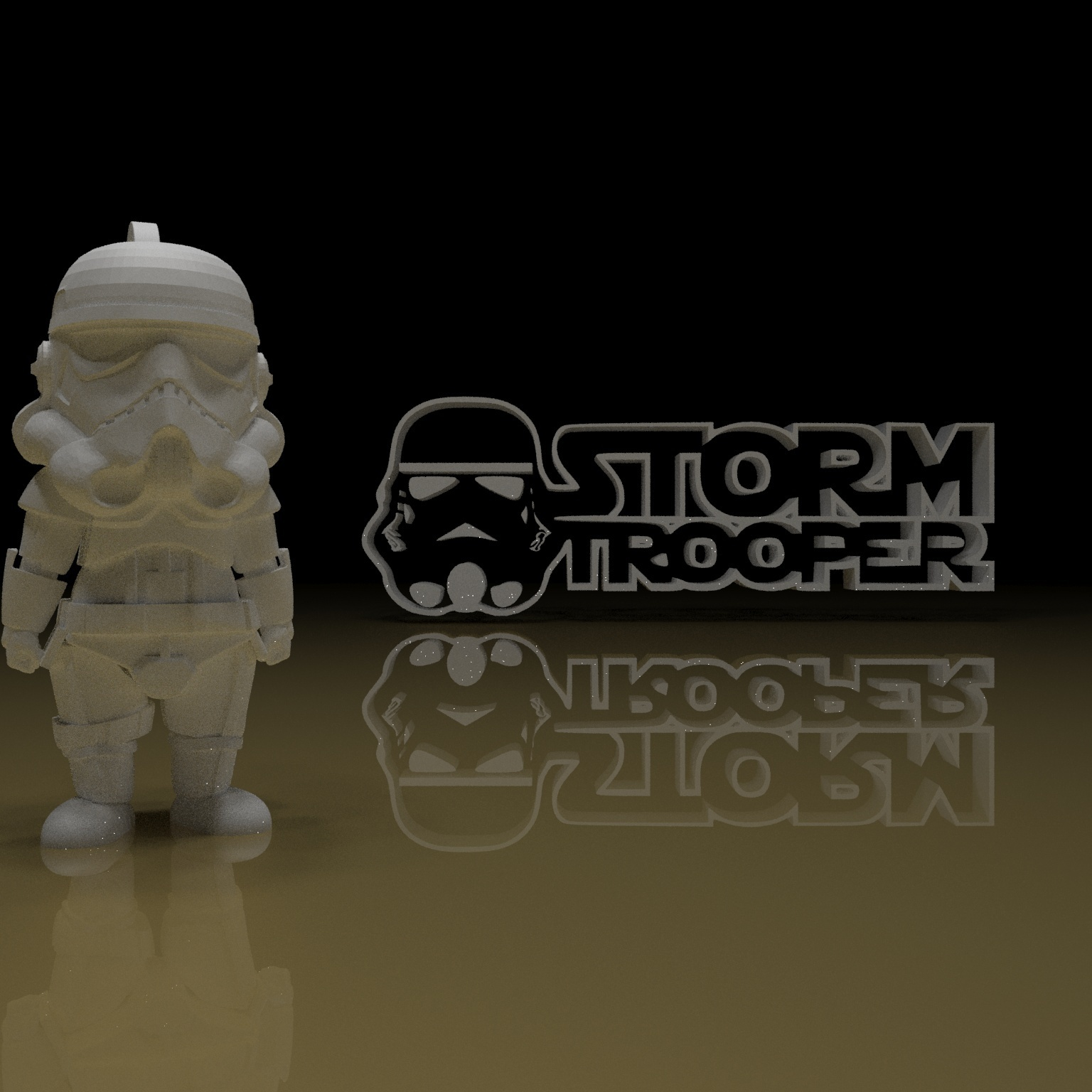5.jpg Download free STL file STORMTROOPER KEY CHAIN • 3D printing template, paltony22