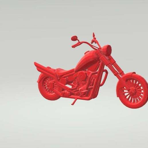 Download free STL file Chopper Motorcycle 3D Model Ready for Print • Object to 3D print, paltony22