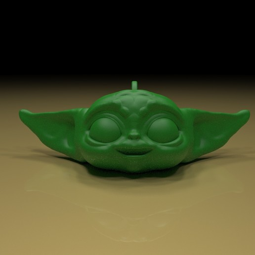Download free 3D printer designs yoda key chain, paltony22