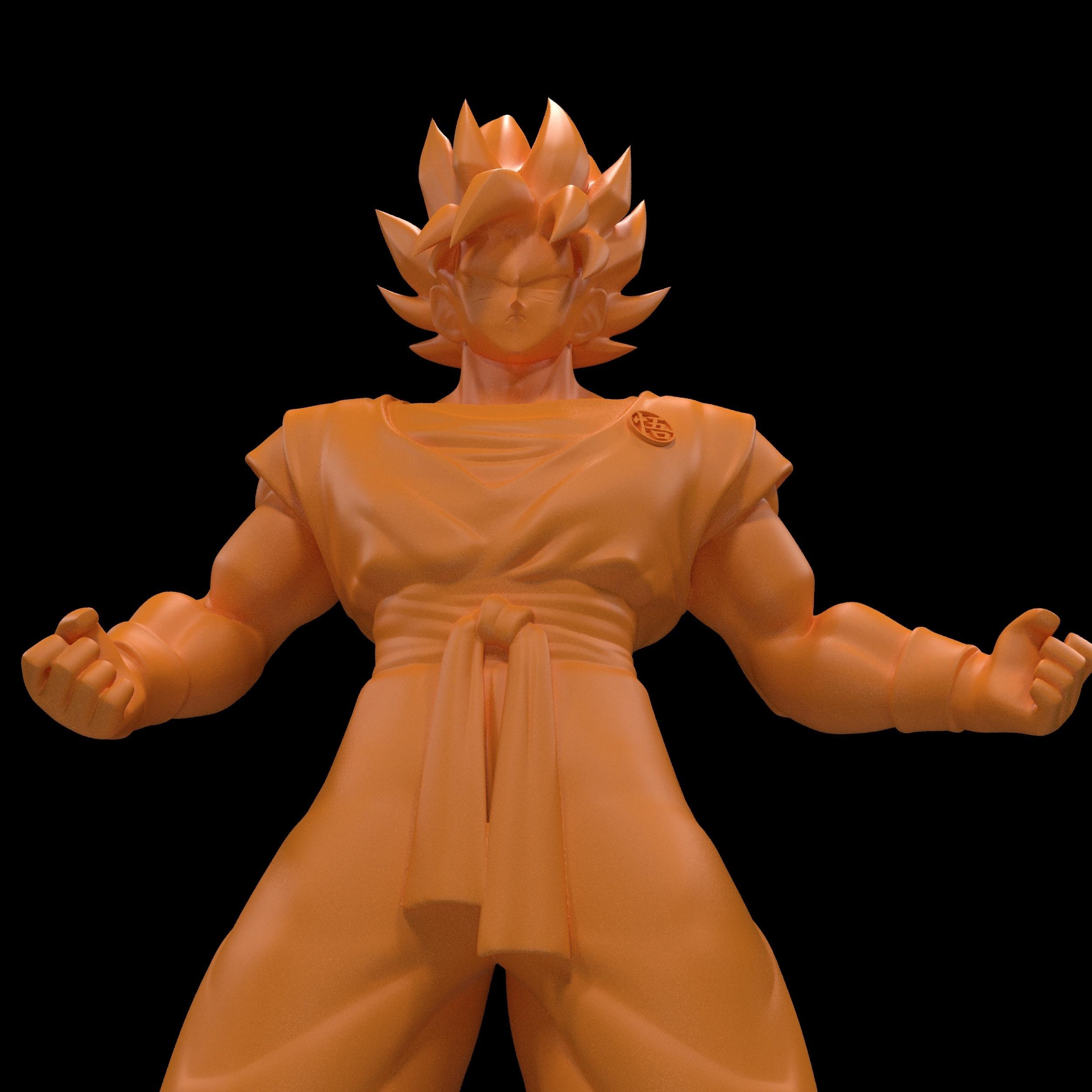 8.jpg Download free STL file Goku (Super Saiyan) • 3D printer template, paltony22