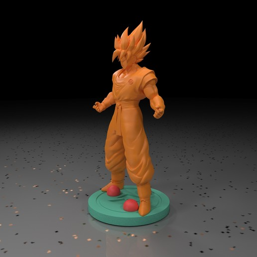 7.jpg Download free STL file Goku (Super Saiyan) • 3D printer template, paltony22