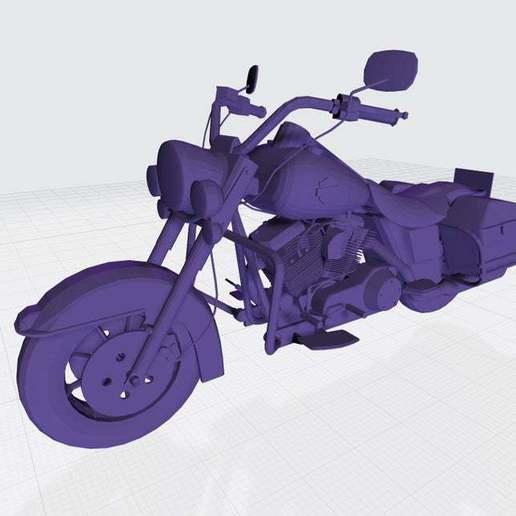 Télécharger fichier STL gratuit Modèle imprimable en 3D de la Harley Davidson Road King • Plan imprimable en 3D, paltony22