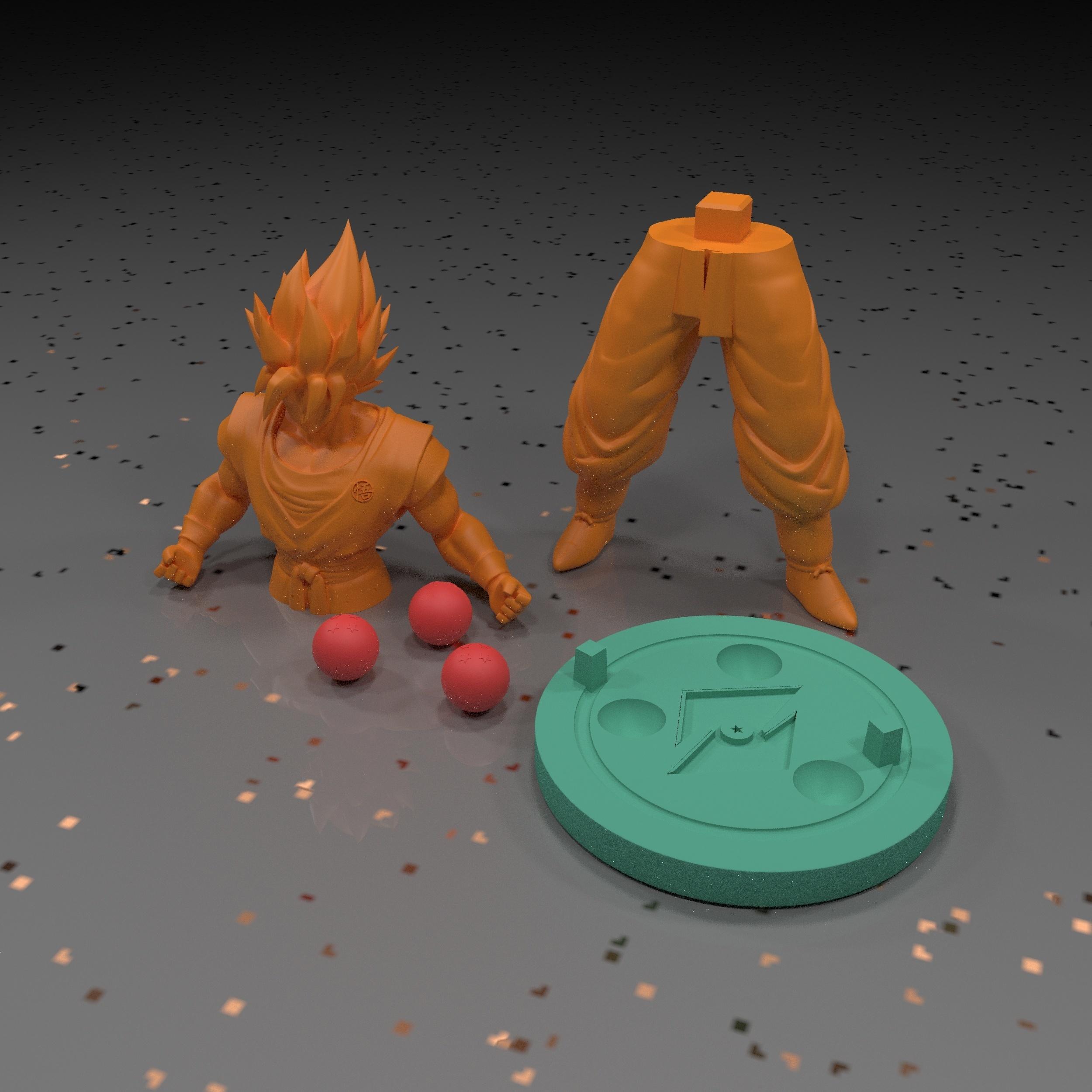 9.jpg Download free STL file Goku (Super Saiyan) • 3D printer template, paltony22
