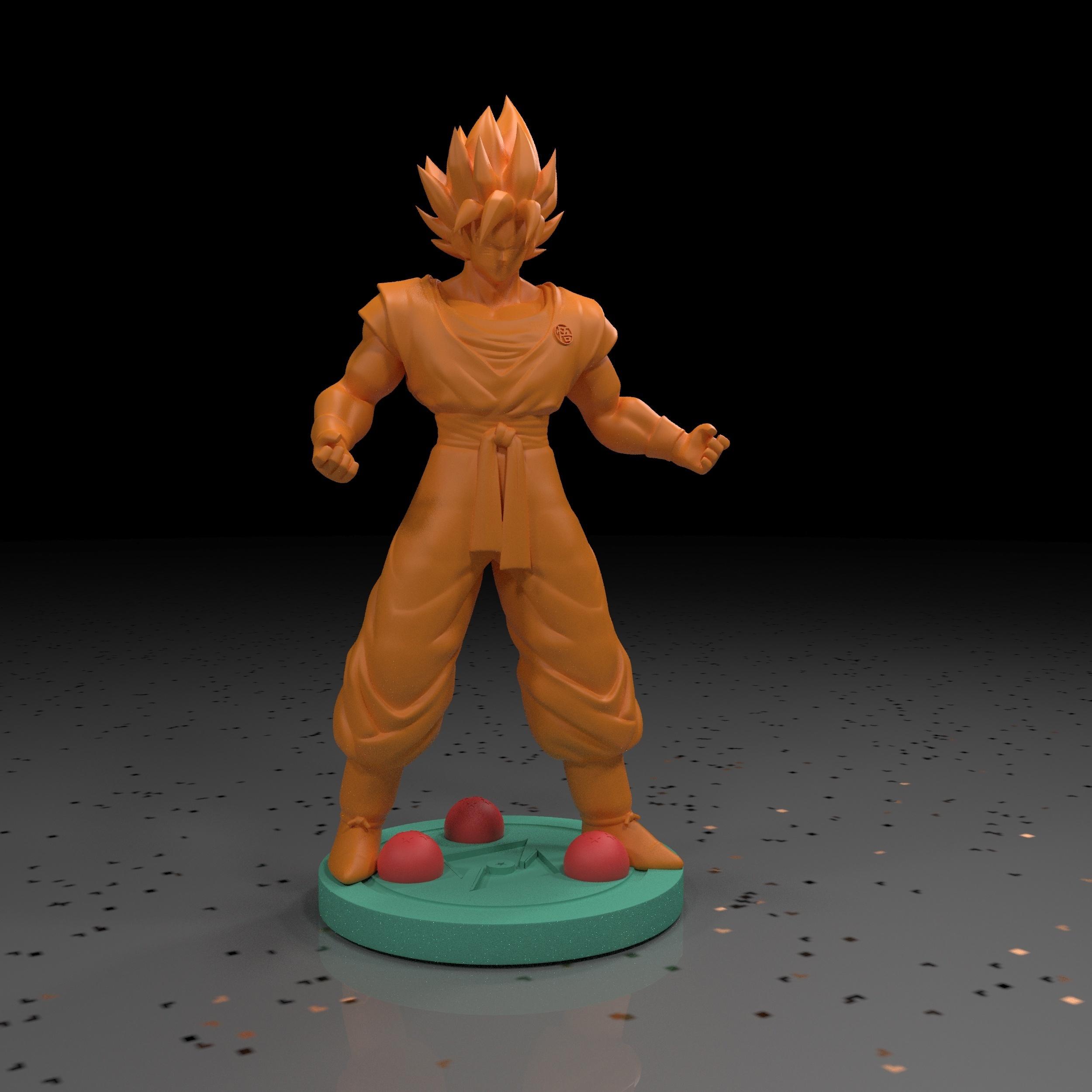 1.jpg Download free STL file Goku (Super Saiyan) • 3D printer template, paltony22