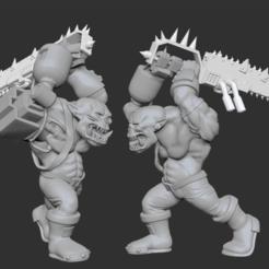 ork.png Download free OBJ file Biggun with an executioner • 3D printer design, btorfe