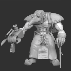 plague_doc.png Download free STL file Plague Ork • 3D printable object, btorfe