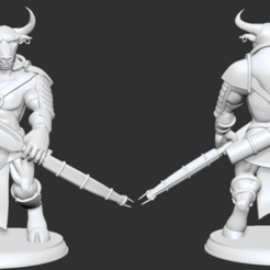 Descargar archivos STL gratis Miniatura del Arquero del Minotauro Griego, btorfe