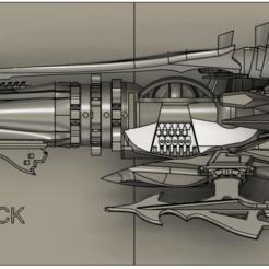 HalfBoard01.png Télécharger fichier STL gratuit Albator 2013 Arcadia HalfBoard • Modèle à imprimer en 3D, SilXProduction