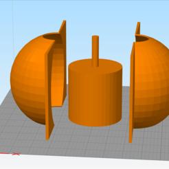 Maceta.png Download STL file Spherical Plant Pot Mold • 3D printable template, Roshinorix