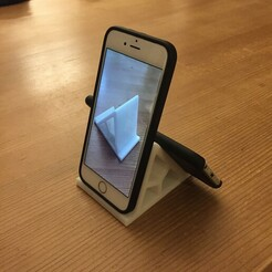 IMG_2926.JPG Download free STL file Universal smartphone holder • Model to 3D print, Alfa-Crea