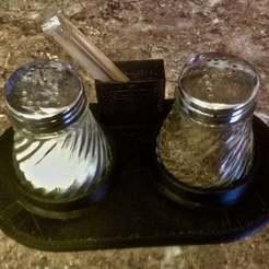Descargar Modelos 3D para imprimir gratis Póngase de pie para la sal, la pimienta y los palillos de dientes., usovv