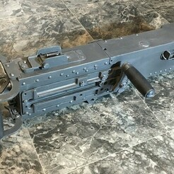 01.jpg Download STL file 1:1 Browning M2HB 50cal Machine Gun • 3D print object, TazMan2000