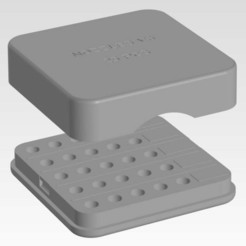 03-09-2019_20-08-36.jpg Télécharger fichier STL gratuit Boîte pour buses V6 (jusqu'à 25 pièces avec étiquettes) • Plan à imprimer en 3D, trengtor