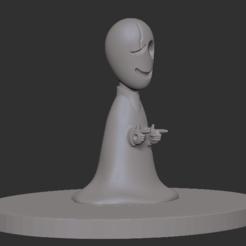 Imprimir en 3D Archivo 3D Gaster de UNDERTALE por Toby Fox, Peppyeta7