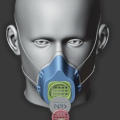 Imprimir en 3D gratis Covid-Mask, Gouza-Tech