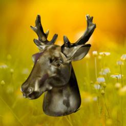 Bild1.png Download STL file Deer head • 3D printable object, Gouza-Tech