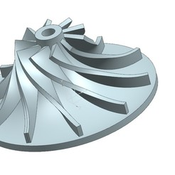 Download free STL file Turbo impeller • Template to 3D print, Gouza-Tech