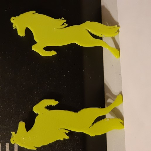 Download free 3D printer templates horse ear-rings, Ristrorg