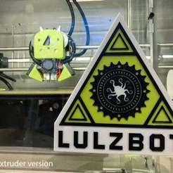 Download free 3D printer model Lulzbot Logo Layered for Single/Dual Extrusion, joshcarter