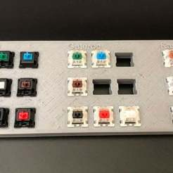 mx-switch-comparitor.jpg Download free STL file MX Key Switch Comparison Board (Cherry, Gateron, Kailh labels) • Design to 3D print, joshcarter