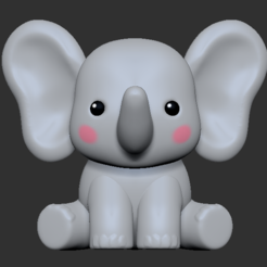 Elephant1.PNG Download STL file Elephant • 3D printing object, usagipan3dstudios