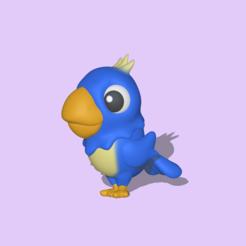 Macaw4.PNG Download STL file Cute Macaw • 3D printing model, usagipan3dstudios