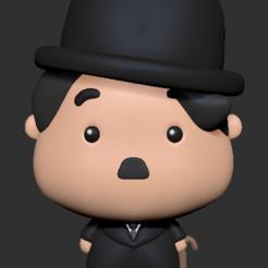 Download 3D printing designs Charles Chaplin, usagipan3dstudios