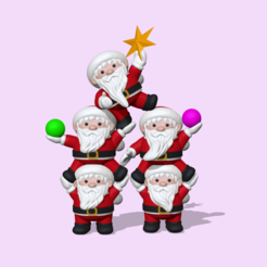 SantaClausTree.PNG Download STL file Saint Claus tree - Christmas • 3D printing model, usagipan3dstudios