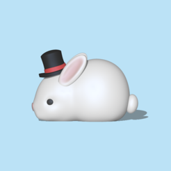 Magic Bunny1.PNG Download STL file A cute Magic Bunny to decorate and play • 3D printable object, usagipan3dstudios