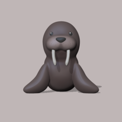 Walrus.PNG Télécharger fichier STL Walrus • Objet imprimable en 3D, usagipan3dstudios