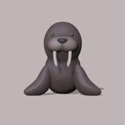 Walrus.PNG Download STL file Walrus • 3D printable object, usagipan3dstudios