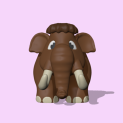 Mammoth1.PNG Download STL file A cute Mammoth to decorate and play • Model to 3D print, usagipan3dstudios