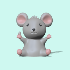 Mouse (1).PNG Download STL file Cute Mouse • Template to 3D print, usagipan3dstudios