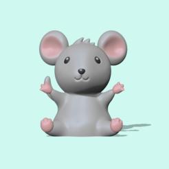 Mouse (1).PNG Télécharger fichier STL Souris mignonne • Modèle pour impression 3D, usagipan3dstudios