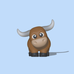 Bull1.PNG Download STL file Brave Bull • 3D printing design, usagipan3dstudios