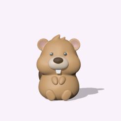 CuteBeaver1.PNG Télécharger fichier STL Castor mignon • Design pour impression 3D, usagipan3dstudios