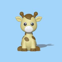Giraffemodel2 (1).PNG Download STL file Giraffe • 3D printing template, usagipan3dstudios