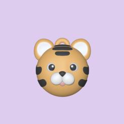 Tiger Ball1.PNG Télécharger fichier STL Joli ballon de tigre - Charme • Design à imprimer en 3D, usagipan3dstudios