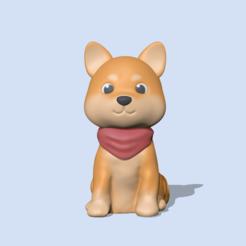 ShibaInu1.PNG Télécharger fichier STL Mignon Shiba Inu • Plan à imprimer en 3D, usagipan3dstudios