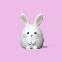 CuteBunny.PNG Download STL file Cute Bunny • 3D printing object, usagipan3dstudios