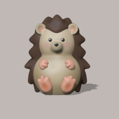 Hedgehog1.PNG Download STL file Hedgehog • 3D print object, usagipan3dstudios