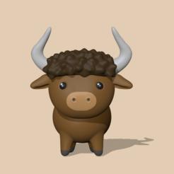 Bull.PNG Download STL file Bull • Object to 3D print, usagipan3dstudios