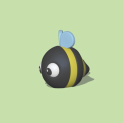 Round Bee2.PNG Download STL file A cute round Bee to decorate and play • 3D printable template, usagipan3dstudios